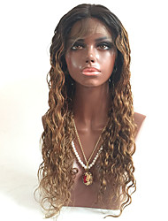 Unprocessed Brazilian Virgin Hair Blonde Ombre Lace Front Human Hair Wigs with Baby Hair T#1b/#30 Ombre Lace Front Wig For Black Women