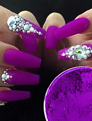 1g/Bottle DIY Beauty Gorgeous Purple Neon Effect Nail Art Neon Pigment Power Nail Fluorescent Glitter Power Nail DIY Decoration YE01