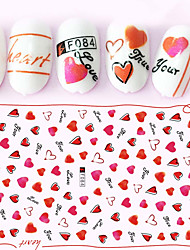 1pcs Hot Fashion Sweet Style Beautiful Heart Shape Design Nail Art 3D Stickers Romantic Lady Nail Art DIY Beauty Decoration F084