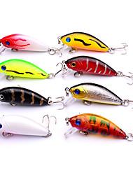 8pcs/set 5cm Swim Fish Fishing Lure Artificial Hard Crank Bait topwater Wobbler Japan Mini Fishing Crankbait lure