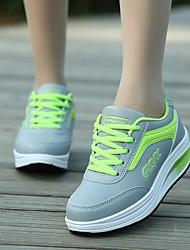 Для женщин Спортивная обувь Удобная обувь Тюль Полиуретан Весна Повседневный Пурпурный Зеленый Синий Розовый На плоской подошве