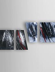 Pintada a mano Abstracto Horizontal,Abstracto Moderno/Contemporáneo Nueva llegada Cuatro Paneles Lienzos Pintura al óleo pintada a colgar