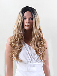 High quality High quality Long Curly Hair  Front lace  Synthetic Wig