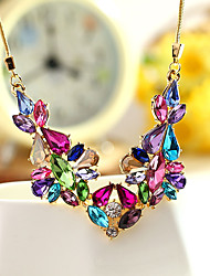 Women's Statement Necklaces Jewelry Jewelry Crystal Alloy Unique Design Fashion Euramerican Costume Jewelry Jewelry For Party Other