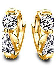 May Polly   Europe and the United States fashion zircon Angel Earrings
