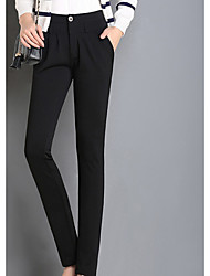 Sign Spring OL commuter Slim black pantyhose women pants suit pants straight jeans trousers feet