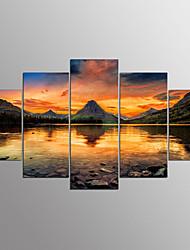 Отпечатки на холсте5 панелей Горизонтальная С картинкой Декор стены For Украшение дома