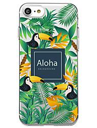 Para iPhone X iPhone 8 Carcasa Funda Transparente Diseños Cubierta Trasera Funda Palabra / Frase Animal Árbol Suave TPU para Apple iPhone