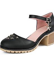 Damen High Heels Pumps PU Sommer Kleid Pumps Glitter Blockabsatz Weiß Schwarz Beige 5 - 7 cm