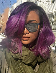 New Fashion T1b/Purple Ombre Glueless Full Lace Human Hair Wigs Brazilian Virgin Hair Short Ombre Full Lace Wig For Black Women