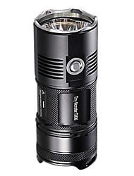 Lampes Torches LED LED 3800 Lumens Mode Cree XM-L2 U2 18650 Résistant aux impacts Surface antidérapante Imperméable Tête crénelée