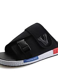 Men's Sandals Comfort Denim Spring Casual Black Gray Blue Flat