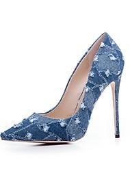 Women's Heels Basic Pump Denim Summer Fall Casual Office & Career Party & Evening Dress Basic Pump Stiletto HeelLight Blue Navy Blue