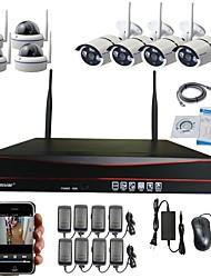 8ch мегапиксельная беспроводная передача HD IP-камера&NVR комплект