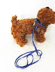 Laisse pour animaux de compagnie) 1,2 m polyester imprimé poitrine corde de traction corde tendeurs