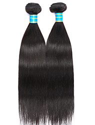 Vinsteen Brazilian Virgin Hair Straight 2 Pieces Short Human Hair Weaves Double Weft Hair Extensions Silky Natural Human Hair Bundles