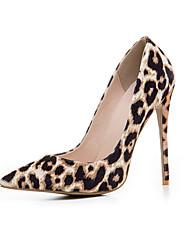 Feminino Saltos Plataforma Básica Pele Real Verão Outono Casual Leopardo Cor Ecrã 10 a 12 cm