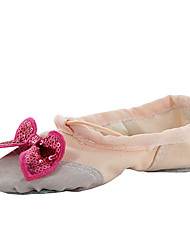 Kids' Ballet Fabric Flats Indoor Bow(s) Flat Heel Blushing Pink Red Beige Black White