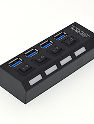4 Port USB 3.0 High Speed HUB with Switch