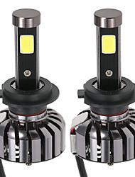KKmoon Pair of H7 DC 12V 40W 4000LM 6000K LED Headlight Lamp Kit Light Bulbs