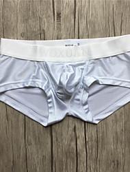 Sexy Solide Sous-vêtements Ultra Sexy Slip Boxer-Spandex Nylon