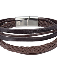 Men's Wrap Bracelet Leather Bracelet Jewelry Natural Fashion Leather Alloy Irregular Jewelry For Special Occasion Gift