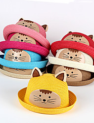 Kids' Hat  Cat Pattern Cute Summer Hat