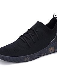Men's Sneakers Tulle Spring White Black Black/White Flat