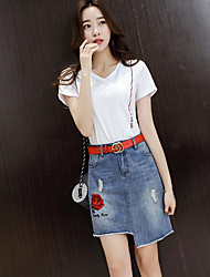 Women's Casual/Daily Above Knee Skirts A Line Floral Summer