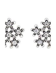 Euramerican Elegant Adorable Rhinestone Floret Stud Earrings Lady Daily Stud Earrings Gift Jewelry