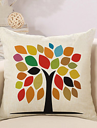 1 Pcs Simple Colorful Tree Of Life Pattern Cushion Cover Creative Pillow Cover Home Decor Pillowcase