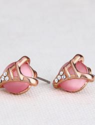 Women's Earrings Opal Euramerican Fashion Personalized Gemstone Alloy Jewelry Jewelry 147 Wedding Party Anniversary 1 Pair