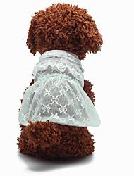 Chien Robe Smoking Vêtements pour Chien Décontracté / Quotidien Mariage Mode Princesse Violet Jaune Bleu Vert clair