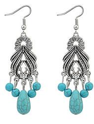 Bohemian Fashion Vintage Elegant Chrome Women's Party  Lovely Drop Earrings Movie Jewelry