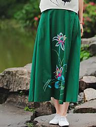 Mujer Vacaciones Midi Faldas Verano Estampado