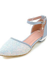 Women's Sandals D'Orsay & Two-Piece Comfort Leatherette Summer Wedding Casual Dress D'Orsay & Two-Piece Comfort Imitation Pearl BuckleLow