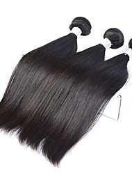 Peruvian Straight Hair Human Hair Bundles Double Weft Non-remy Hair Extensions Natural Black 10-30