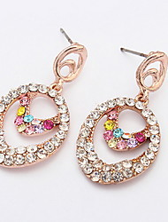 The European and American fashion double earrings