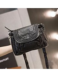 Women's Shoulder Bag PU All Seasons Casual Square Magnetic Black