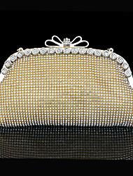 Femme Polyester Paillette Brillante Noeud(s) Cliquet Or Argent