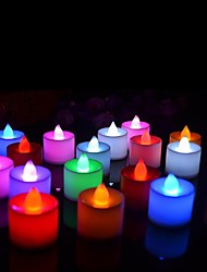 24Pcs Colorful Flickering Flameless LED Candle Mini Battery Operated Tea Lights New Arrive Realistic Led Tea Light Candle  for Wedding Bar Paty