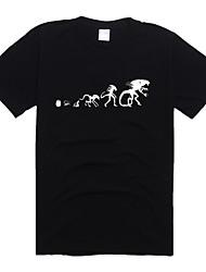 Alien T-shirt Fantasias de Cosplay Moletons Estampa Monstros de Filme e Tema de TV Cosplay de Filmes Preto Cinzento Azul Vermelho Ciano