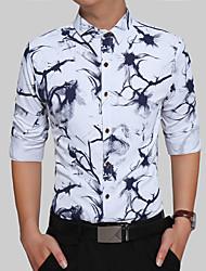 Masculino Camisa Social Festa Diário Casual Trabalho Festa de 16 Anos Rua Festa de aniversário Vintage Simples Boho Todas as Estações,