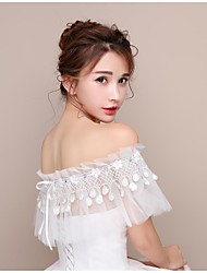 Women's Wrap Capelets Lace Tulle Wedding Party/ Evening Party & Evening Tassel