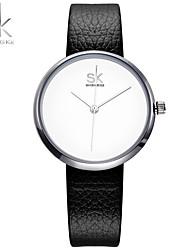 SK Mulheres Relógio Elegante Relógio de Moda Bracele Relógio Chinês Quartzo Impermeável Resistente ao Choque Couro BandaPendente Casual