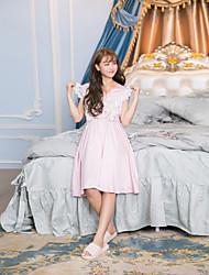 Vestido para dormir vestido de dama de renda v pescoço vestido de casamento doce sem mangas