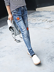 Girls' Casual/Daily Embroidered Jeans Spring