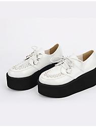 Lolita Shoes Gothic Lolita Punk Lolita Vintage Inspired Lolita Handmade Platform Solid Color Hollow-out Lolita 8 CM White ForPU