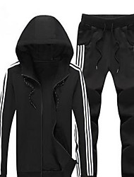 Men's Long Sleeve Running Tracksuit Waterproof Thermal / Warm Fall/Autumn Winter Sports Wear Running Polyester