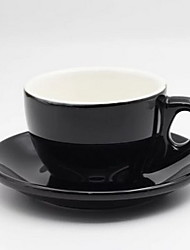 Thickened Ceramic Fancy Big Mouth Cappuccino Iron Italian Coffee Cup Set